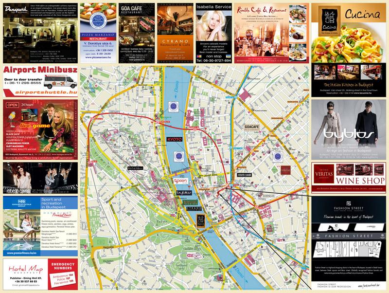 budapest nevezetességei térkép Hotel Map   Budapest budapest nevezetességei térkép